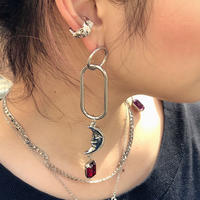 【CUB RUN】SUN&MOON  LONG  RING  PIERCE