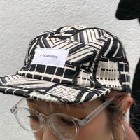 【R-18】PATTERN JET CAP / Black White
