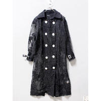 FLOWER LACE TRENCH COAT