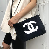 《CHANEL》NOVERTY PILE CHAIN BAG  black×black