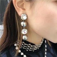2BALL RHINESTONE PIERCE
