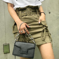 POCKET RIBBON BELT MINISKIRT