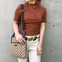 【Vintage GUCCI】GG SHOULDER BAG