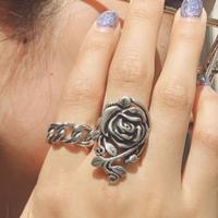 ROSE RING + CHAIN RING SET