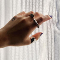 SILVER 3 RING SET -A