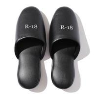 【R18】 LOGO SLIPPA OUT / Black