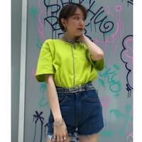 USED  NIKE Onepoint Tee Shirt【neon yellow 】④