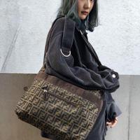 【Vintage FENDI】ZUCCA BIG SHOULDER BAG