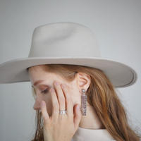 【8 COLORS】WIDE FELT HAT