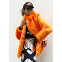 COLOR FAKE  FUR COAT