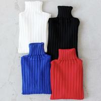 Turtleneck Wide-rib Knit-sewn