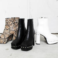 Studs Platform Boots