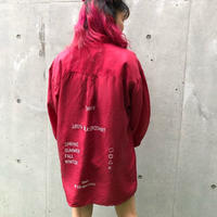 【R-18】USED SILK  SHIRT  - red -④