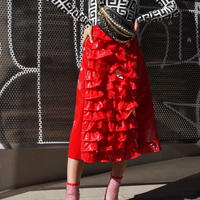 【CUBRUN】Enamel Frill Skirt
