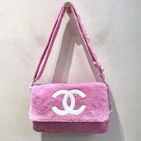 CHANEL NOVERTY PILE BAG/ Pink&White