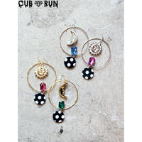 【倖田來未様着用】【CUBRUN 】SUN & MOON BIJOU DOT PIERCE