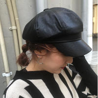 FAKE LEATHER CASQUETTE