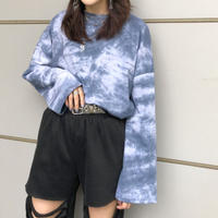 TIE-DYE  LONG  SLEEVE  CUTSEW