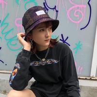 【R-18】PATTERN BUCKET HAT / Purple