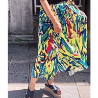 MULTI COLOR PLEATS SKIRT