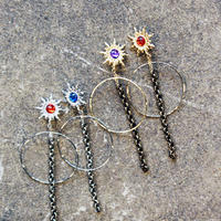 SUN RING CHAIN EARRING