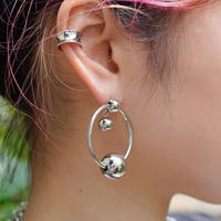 SILVER  RING  3BALL  PIERCE
