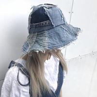 REMAKE PATCHWORK DENIM HAT