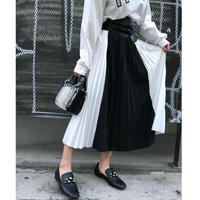 BY COLOR  PLEATS  SKIRT