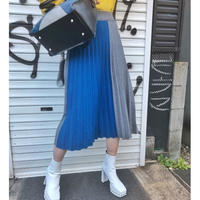 BICOLOR  PLEATS SKIRT