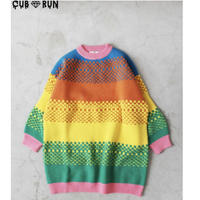 【CUB RUN】COLORFUL  LONG  KNIT