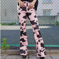 【DOLLS KILL】BABY EVERYTHING'S A1 COW PRINT PANTS