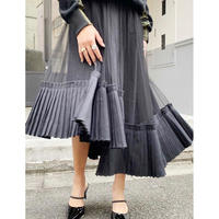 Aasymmetry Layered Tulle Skirt