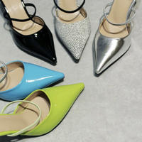 Pointed toe Band Mule