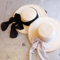RIBBON RAFFIA HAT