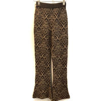 JACQUARD  FLARE  KNIT  PANTS