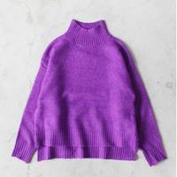 High-neck High-gauge Knit