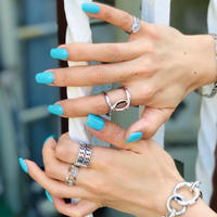 SILVER 4 RING SET  -A-