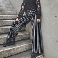 Glitter Stripe Wide Pants