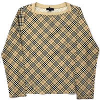 【Vintage BURBERRY】CHECK LONG SLEEVE TEE
