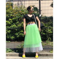 【CUBRUN】COLOR TULLE SKIRT