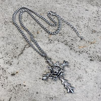 ROSY CROSS NECKLACE