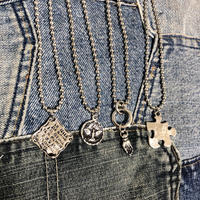 BALL CHAIN MOTIF NECKLACE