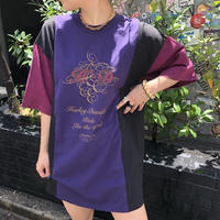 USED  HARLEY-DAVIDSON  TEE -purple-