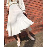 Asymmetry Pleats Skirt