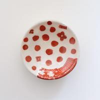 イバタカツエ作 赤絵豆皿D