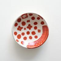 イバタカツエ作 赤絵豆皿A