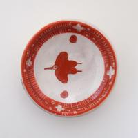 イバタカツエ作 赤絵豆皿E
