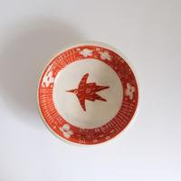 イバタカツエ作 赤絵豆皿/A