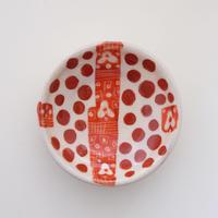 イバタカツエ作 赤絵豆皿H
