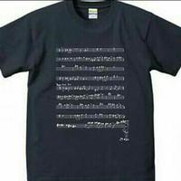 言葉にできない楽譜Tシャツ/ネイビー